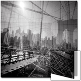 Brooklyn Bridge Triple Poster by Evan Morris Cohen