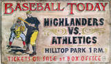 Baseball Today Vintage Wood Sign
