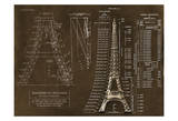 Eiffel Tower Rendering 1 Posters by Carole Stevens