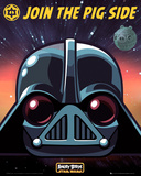 Angry Birds Star Wars Vader Posters