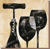 Wine Selection II Stretched Canvas Print by Daphne Brissonnet