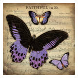 Musical Butterflies 3 Art by Carole Stevens