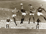 Manchester United vs. Arsenal, Football Match at Old Trafford, October 1967 Art
