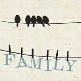 Bird Talk III Arte por Jess Aiken