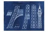 Carole Stevens - Eiffel Tower Rendering 2 - Reprodüksiyon