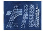 Eiffel Tower Rendering 2 Prints by Carole Stevens