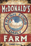 Egg Farm Vintage Wood Sign