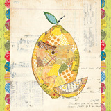 Fruit Collage II - Lemon Art by Courtney Prahl
