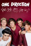 One Direction Maroon Kunstdrucke