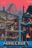 Le monde Minecraft Affiches
