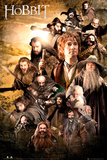 The Hobbit Characters Kunstdruck