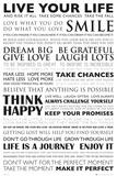 Vivez votre vie, en anglais Affiches