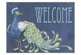 Peacock Welcome Posters par Marilu Windvand