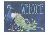 Peacock Welcome Poster van Nicole Tamarin