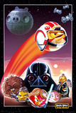 Angry Birds Star Wars Collage Poster