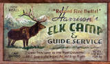Elk Camp Hunting Vintage Wood Sign