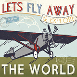 Let's Travel II Poster af Jess Aiken