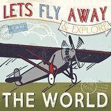 Let's Travel II Plakat autor Jess Aiken