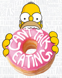 The Simpsons Eating Poster