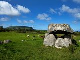 Dolmen, Portal Tomb in Stone Circlke, Carrowmore Megalithic Cemetery, C&#250;il Irra Peninsula, Ireland Photographic Print