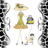 Poosh Poodle Gal Prints by Stacey Hagerman