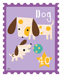 Animal Stamps - Dog Art by Jillian Phillips