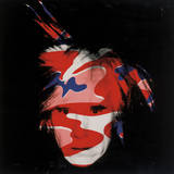 Andy Warhol - Self-Portrait, 1986 (Red, White And Blue Camo) Obrazy