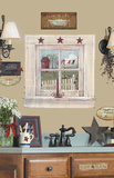 Outhouse Window and Signs Peel & Stick Giant Wall Decal Wall Decal