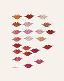 Stamped Lips, c. 1959 高画質プリント : アンディ・ウォーホル