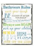Bathroom Rules Multi Poster van Taylor Greene