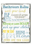 Bathroom Rules Multi Poster di Taylor Greene