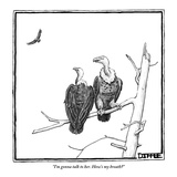 """""""I'm gonna talk to her. How's my breath"""" - New Yorker Cartoon Premium Giclee Print by Matthew Diffee"""