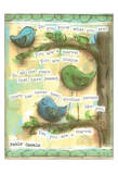 Birds Blue 3 Posters by Diane Stimson