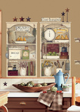 Country Kitchen Shelves Peel & Stick Giant Wall Decals Wall Decal