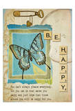 Be Happy Print by Grace Pullen