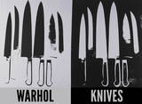 Knives, c. 1981-82 (Silver and Black) Art by Andy Warhol