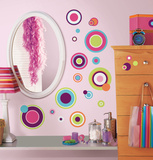 Crazy Dots Peel & Stick Wall Decals Adhésif mural