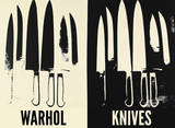 Knives, c. 1981-82 (Cream and Black) Posters by Andy Warhol