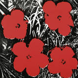 Flowers (Red), 1964 Poster af Andy Warhol