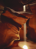Shaft of Sunlight Penetrating Antelope Canyon, Page, Arizona, USA Photographic Print by Adam Jones