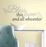 Bless this Home Peel &amp; Stick Wall Decals Autocollant mural