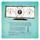 Retro Barometer Prints by Tina Carlson