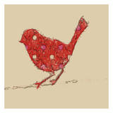 Red Avian Prints by Taylor Greene