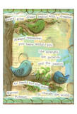 Birds Blue 4 Poster by Diane Stimson