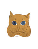 "Cat from ""25 Cats Named Sam and One Blue Pussy"", c. 1954 (gold sam) Prints by Andy Warhol"