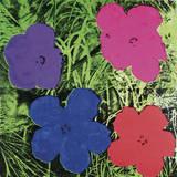 Flowers, C. 1964 (1 Purple, 1 Blue, 1 Pink, 1 Red) Kunstdrucke von Andy Warhol