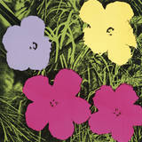 Flowers, 1970 (1 Purple, 1 Yellow, 2 Pink) Poster by Andy Warhol