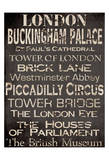 Simple Speak London Affiche par Grace Pullen
