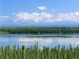 View of Willow Lake with Mt. Wrangell, Wrangell, Alaska, USA Photographic Print by Adam Jones