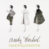 Andy Warhol - Three Female Fashion Figures, c. 1959 Plakát